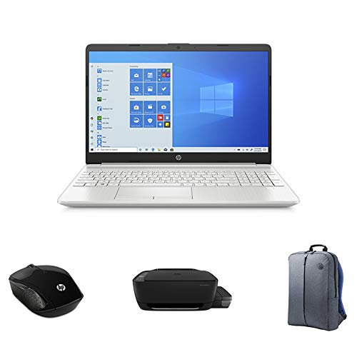 "HP Laptop 10th Gen (HP 15-dw2081ne, 15.6"" display, 10 Gen Intel Core i5, 4GB RAM, 256 GB SSD, 2GB Graphics Laptop + HP Ink Tank 415 Printer + HP Mouse 200+ HP Grey Backpack)"