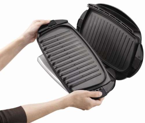 George foreman grp4 next grilleration 5 burger grill with - George foreman replacement grill plates ...