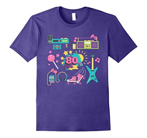 Mens Retro 80s T-Shirt Rock Band Vintage Music Theme Eighties Tee 3XL - Rock Music T-shirt Retro Tee
