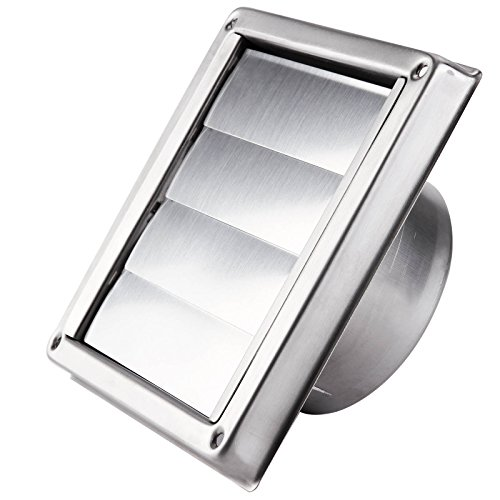 Surepromise 304 Stainless Steel Wall Air Vent Metal Cover Outlet Exhaust Grille 4 inch