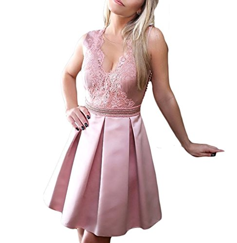 Elegante kleider kurz rosa
