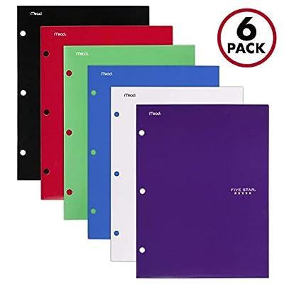 Five Star 4 Pocket Folders, 2 Pocket Folders Plus 2 Additional Pockets, Assorted Colors, 6 Pack (38058)