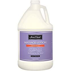 Bon Vital Original Massage Lotion for a Versatile Massage Foundation with to Relax Sore Muscles & Repair Dry Skin, 1 Gallon Bottle