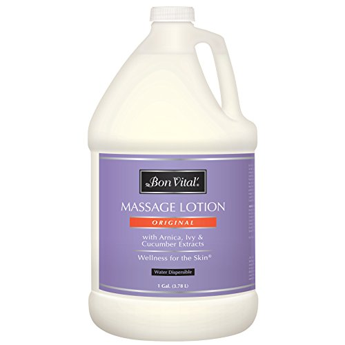 Bon Vital' Original Massage Lotion for a Versatile Massage Foundation to Relax Sore Muscles & Repair Dry Skin, Lightweight, Non-Greasy Formula to Moisturize and Repair Dry Skin, 1 Gallon (Deep Gallon)