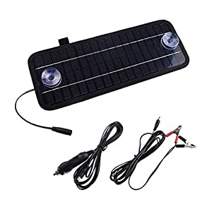 12V 4.5W Solar Panel Power Trickle Car Automobile Battery Charger Backup Power Supply Emergency Power For Car Boat🌵