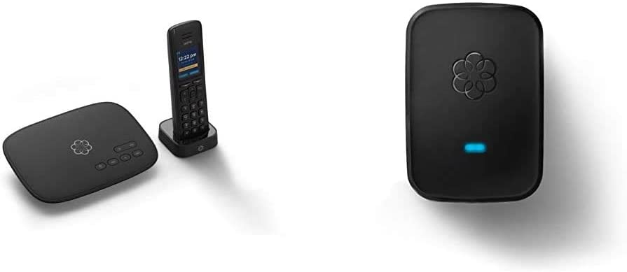 Ooma Telo VoIP Free Internet Home Phone Service and HD3 Handset. Affordable landline Replacement & Linx Wireless Phone Jack for Ooma Telo and Ooma Office VoIP Phone Systems