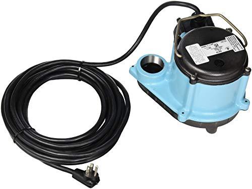 Little Giant 508158 Automatic Sump Pump, 2700 GPH, Blue