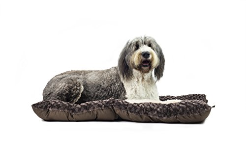 """Furhaven Pet Md Ultra Plush Bolster, Chocolate, Fits: 28"""" x"""