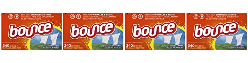 Bounce Outdoor Fresh GYDyUi Fabric Softener and Dryer Sheets (4 Units) by Bounce