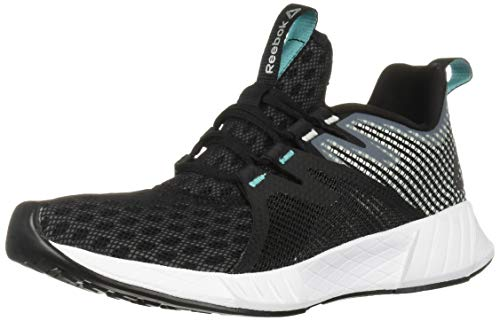 Reebok Women's FUSIUM Run 2.0, Black/Storm Glow/White/Solid Teal/Silver, 5 M US
