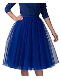 SK Studio Women's Short Vintage Petticoat Skirt Ballet Bubble Tutu Multi-Colored