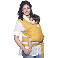 Mama Cuddle Super Soft Lightweight Baby Sling Stretchy Wrap Carrier - Mustard
