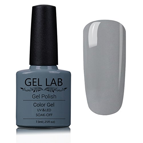GEL LAB Gel Nail Polish Soak Off UV LED Nail Vanish Grey Ser