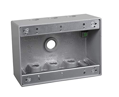 TayMac TB750S 3-Gang Weatherproof Box with Seven 1/2 in. Outlets, ()