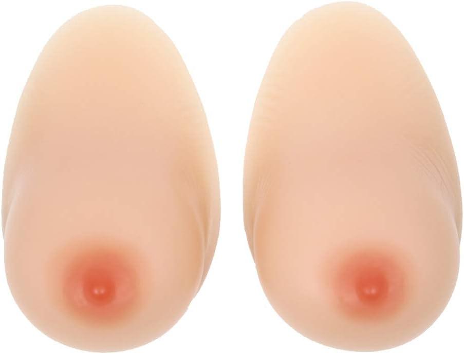Tex-Eorey Gef/älschte Silikonbr/üste 1 Paar gekreuzte falsche Br/üste Brustprothese nach Mastektomie mit Wassertropfen f/ür Transsexuelle Drag Queen Breast