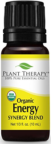 Plant Therapy Energy Organic Synergy Essential Oil 10 mL (1/3 oz) 100% Pure, Undiluted, Therapeutic Grade