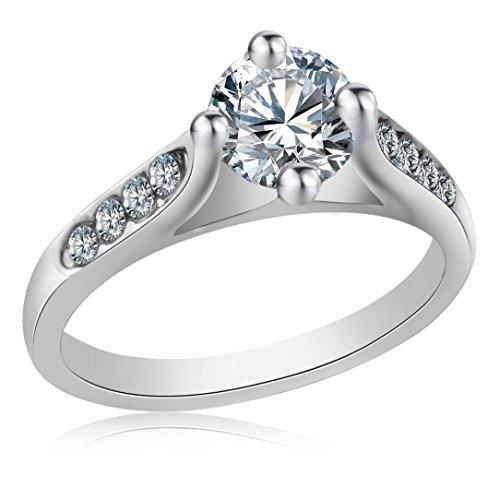 Beauty Jewelry Set - Clearance Beauty Women Jewelry Filled Rhinestone Wedding Engagement Crystal Ring (Silver, 8)