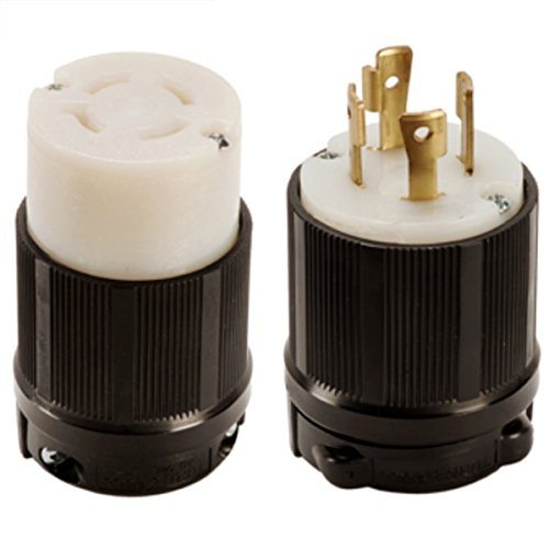 600vac Plug - OCSParts L17-30 NEMA L17-30 Plug and Connector Set - Rated for 30A, 600V, 4-Wire, 3 Pole - cUL Listed (Pack of 2)