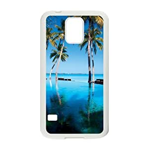 Beautiful Maldives Unique Design Cover Case with Hard Shell Protection for SamSung Galaxy S5 I9600 Case lxa#469989