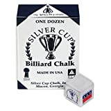 Sterling Gaming Silver Cup Pool Cue Chalk Cubes in
