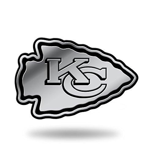 Rico Industries NFL Kansas City Chiefs Chrome Finished Auto Emblem 3D ()