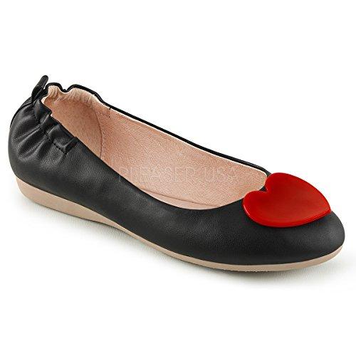 Pin Up Couture Mujeres Olive-05 Ballet Flat Blk Imitación De Cuero