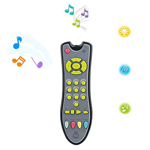 Baby Remote Control Toy,Analog TV Remote Control Infants Sound Musical Learning Toy for 1-3 Year Old Baby Boys and Girls (Leapfrog Remote)