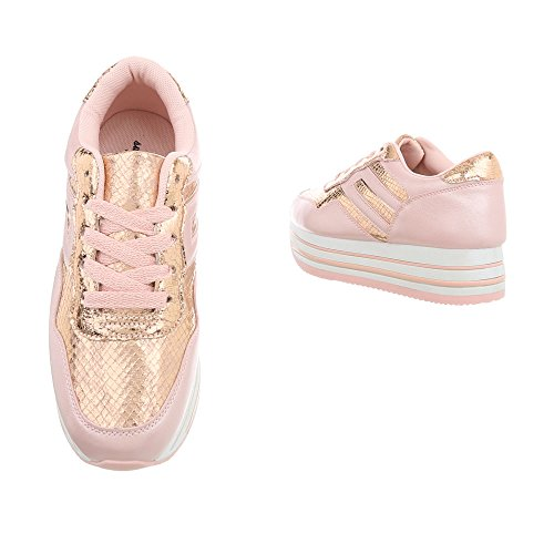 Sneakers Femme Chaussures Mode Plat Low Espadrilles Baskets Design Ital gATwE5Yqg