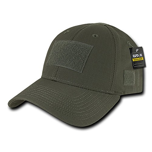 Armycrew Tactical Operator Ripstop Cotton Baseball Cap with Loop Patch - Olive