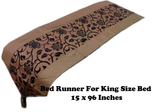 (BEAUTIFUL KING SIZE 15 INCHES X 96 INCHES BED RUNNER)