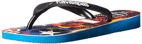 Image of Havaianas Kid's Top Marvel Avengers Sandal (Toddler/Little Kid),Turquoise/Black,25/26 BR (10 M US Toddler)