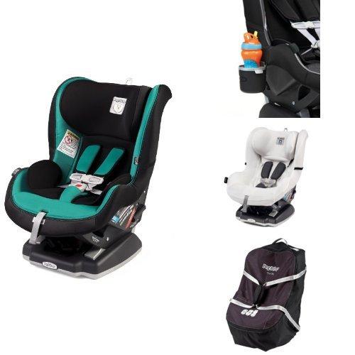 Peg Perego Primo Viaggio Infant Convertible Car Seat, Aquamarine Bundle