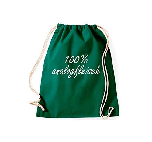 Krokodil - Bolso de tela de algodón para mujer verde oscuro