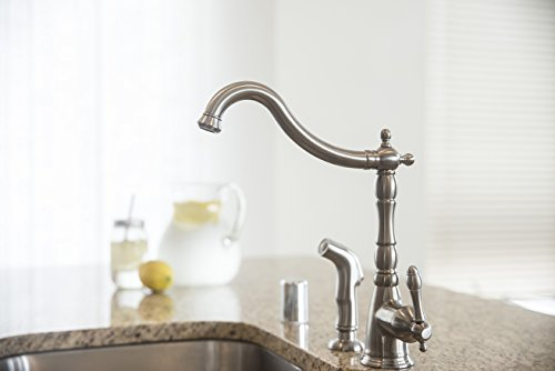 Usa Free Shipping Design House 523241 Oakmont 2 Handle Kitchen Faucet With Side Sprayer Satin