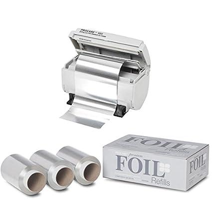 ProCare dispensador de papel de aluminio + 3 x rollos de lámina de Premium 100 mm