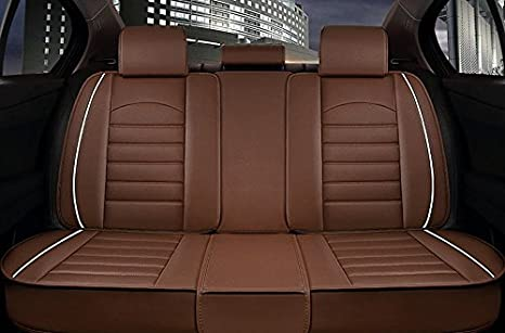 ANKIV FULL SET Universal Fit 5 Seats Car Sedan Suv Seat Covers Protectors Waterproof Pu Leather Auto Seat Cushions