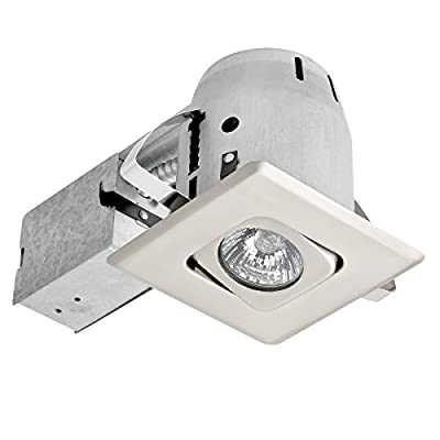 "4"" Dimmable Downlight Regressed Swivel Spotlight Die Cast Recessed Lighting Kit"
