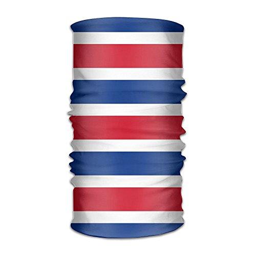 Costa Rica Flag Headwear Bandanas Headscarf Helmet Liner Head Wrap Scarf by WOOD-RAIN