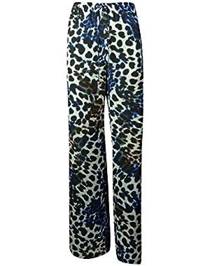 Calvin Klein Womens Print Wide Leg Pant