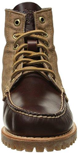 Timberland Authentics 7-Eye Lug Bootsschuhe Leder Canvas