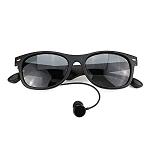 KKmoon K3-P Bluetooth Sunglasses Wireless Music Headphone Polarized Glasses Bluetooth 4.1 Noise Cancellation Hands-free w/ Mic Black for iPhone Samsung Android iOS Smart Phones Tablet PC
