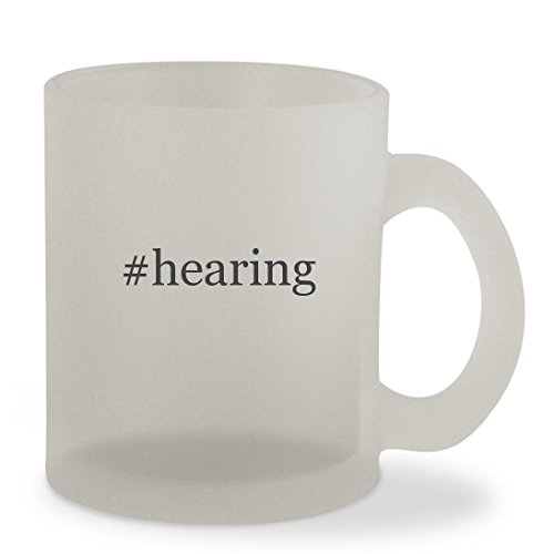 #hearing - 10oz Hashtag Sturdy Glass Frosted Coffee Cup Mug