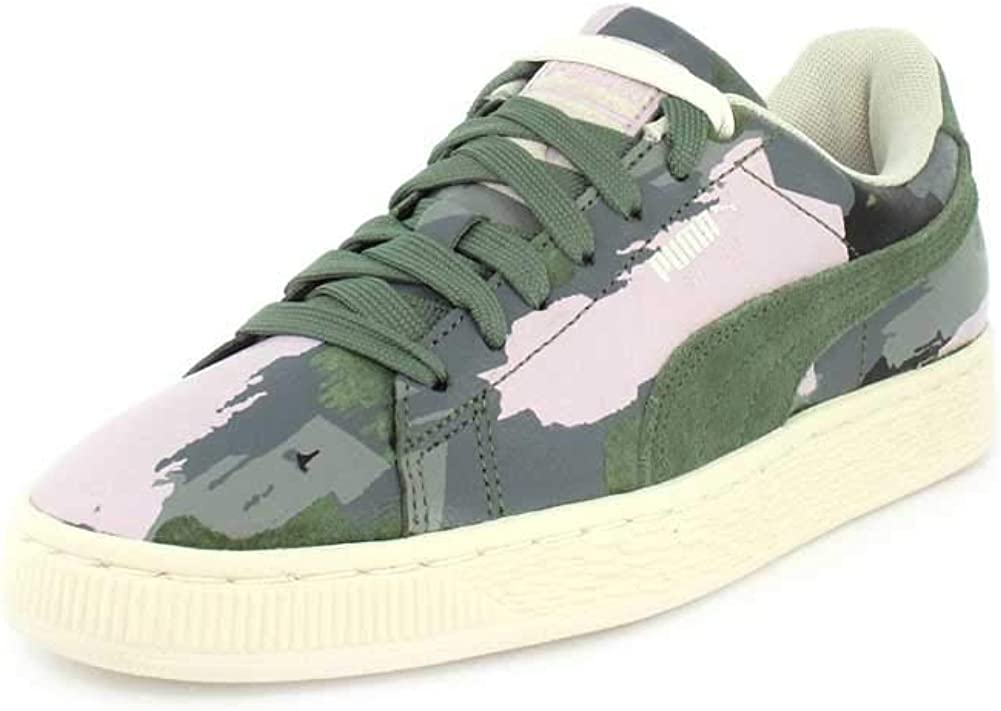 womens green puma trainers