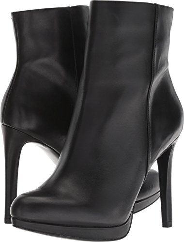 Nine West Women's QUANETTE Leather Ankle Boot, Black, 10 M US