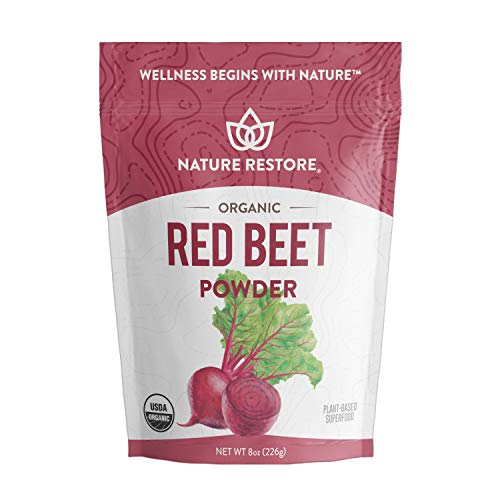 USDA Certified Organic Beet Root Powder, 8 Ounces, Non GMO, Gluten Free, Whole Red Beets