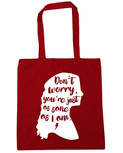 10 42cm You're Don't Shopping Just Worry Classic Bag x38cm As HippoWarehouse Am Gym Sane I litres Tote Beach As Red aw6qSEdy