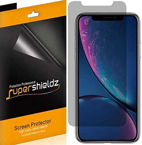 (2 Pack) Supershieldz Privacy Anti Spy Screen Protector Shield for Apple iPhone 11 and iPhone XR (6.1 inch)