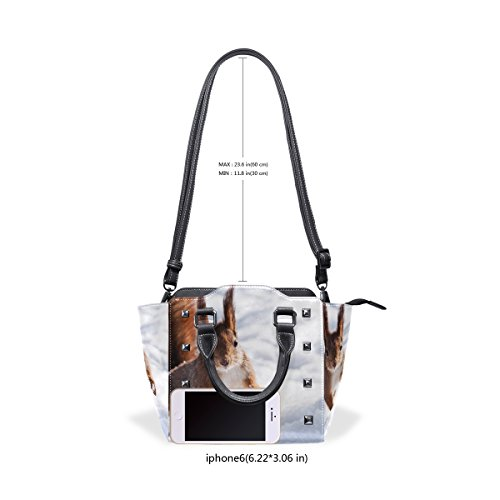 PU In Top Women's Handbags TIZORAX Leather Shoulder Bags Squirrel Snow Handle Jump A C5W1qw0