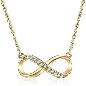 MESTIGE Infinitely Yours Necklace in Gold with Crystals from Swarovski®, Infinity, Love, Gift