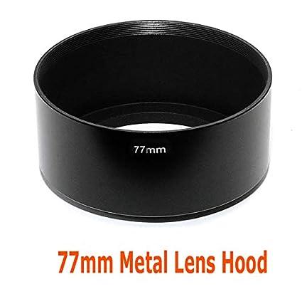 Fotasy Metal 77mm Lens Hood, for Canon Fuji Leica Leitz Nikon Olympus  Panasonic Pentax Sony Lens, Screw-in Design
